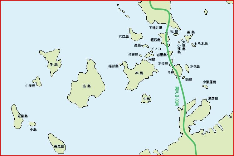下津井沖マップ